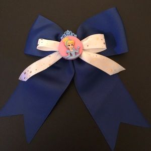 New Handmade Cinderella Princess Hair Bow On Clip